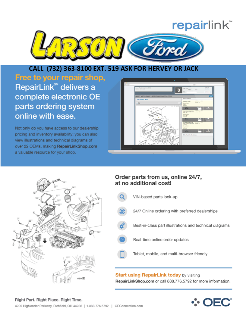 Ford Repair Shop >> Oec Repair Shop Link